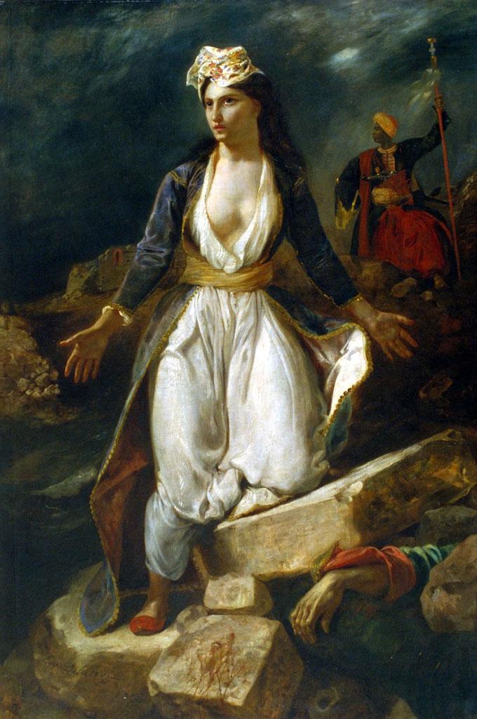 Eugène Delacroix, La Grèce sur les ruines de Missolonghi, 1826