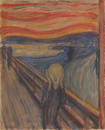 Edvard Munch, Le Cri, 1893, tempera et pastel sur carton, 91 x 73.5 cm, (C.) Nasjonalmuseet, photographie Børre Høstland