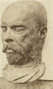 Masque mortuaire de Paul Verlaine, par Meoni, 1896