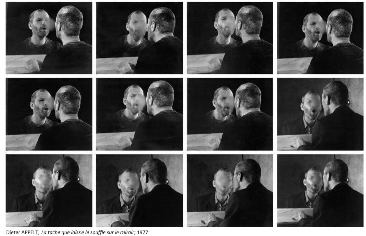 Dieter Appelt - La tache que laisse le souffle sur le miroir