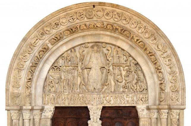 Tympan du Jugement dernier, portail de la cathédrale Saint-Lazare d'Autun, XIIe siècle