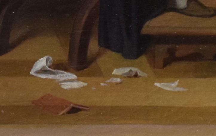 Ingres, L'Arétin et l'envoyé de Charles Quint, 1848, détails, photographie Deuxième Temps