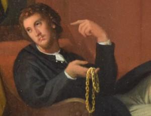 DSC_0527Ingres, L'Arétin et l'envoyé de Charles Quint, 1848, détails