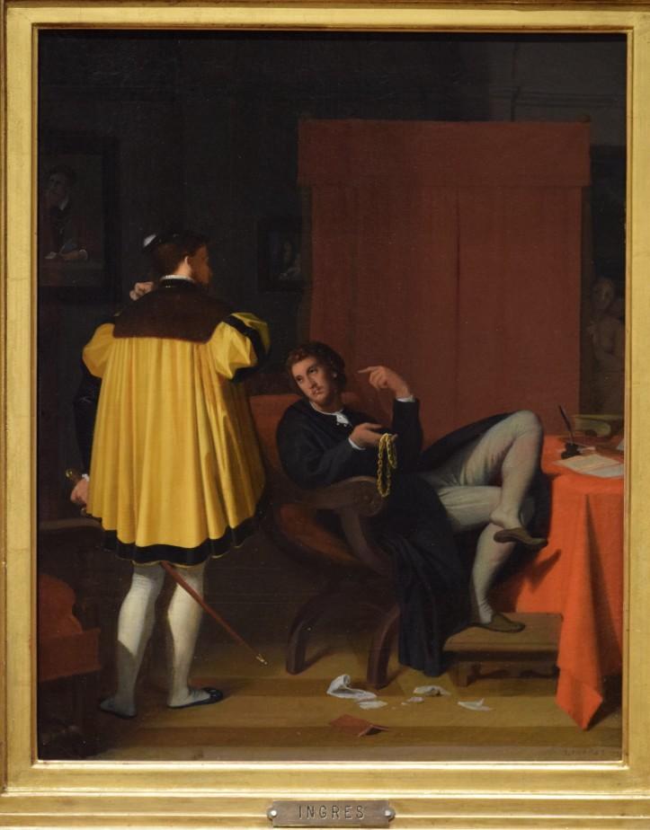 Ingres, L'Arétin et l'envoyé de Charles Quint, 1848