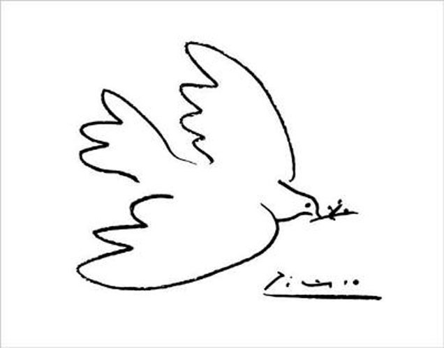 Pablo Picasso, La colombe de la paix, dessin