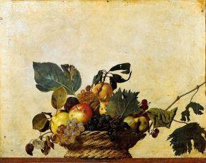 Corbeille de fruits_1596_ Pinacoteca Ambrosiana_ Milan