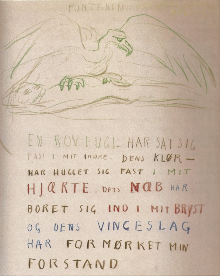 Edvard Munch, document manuscrit