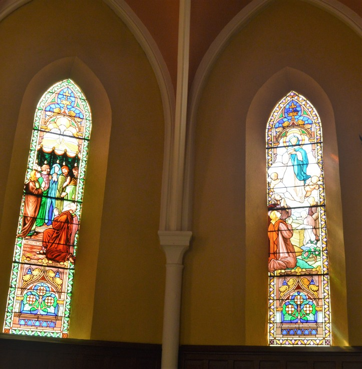 Augustin Burlet, vitraux du chœur, Notre-Dame du Rosaire, XIXe, Saint-Fons.