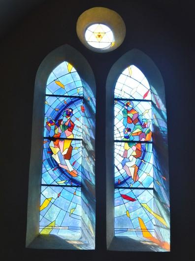 Joël Mône, vitraux de la nef, Notre-Dame du Rosaire, XIXe, Saint-Fons