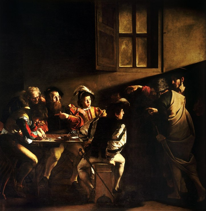 Le Caravage, La Vocation de saint Matthieu, 1599-1600