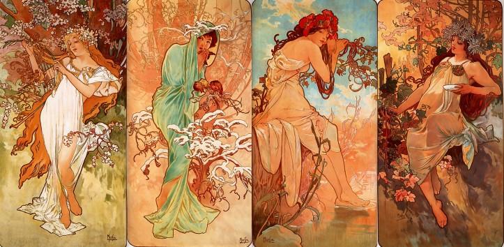 Alfons Mucha, Les Quatre Saisons, 1896