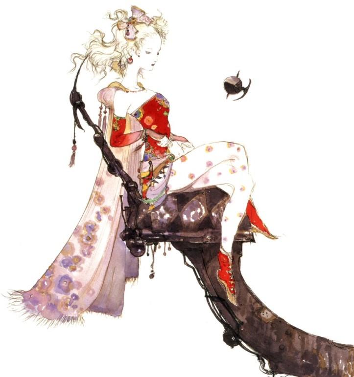 Yoshitaka Amano, Artwork de character design pour le jeu Final Fantasy VI