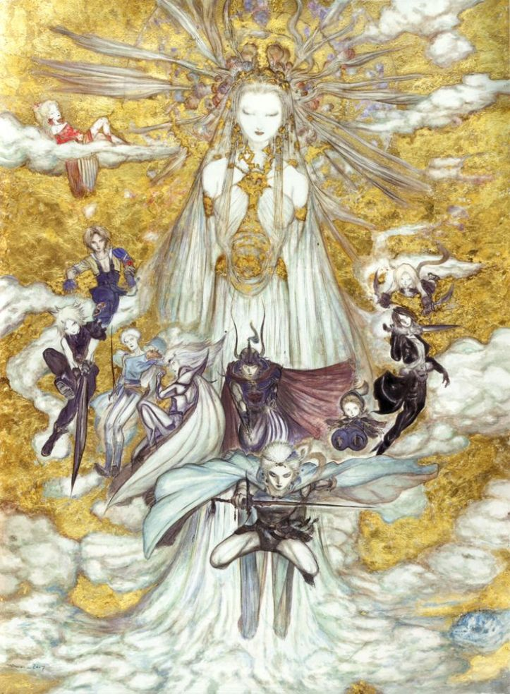 Yoshitaka Amano, artwork pour le jeu Dissidia - Final Fantasy (2008)