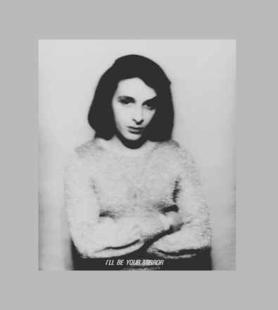 Urs Lüthi, I`ll be you Mirror – Photo on Canvas, 100 x 95 cm, 1972. Crédit : Urs Lüthi