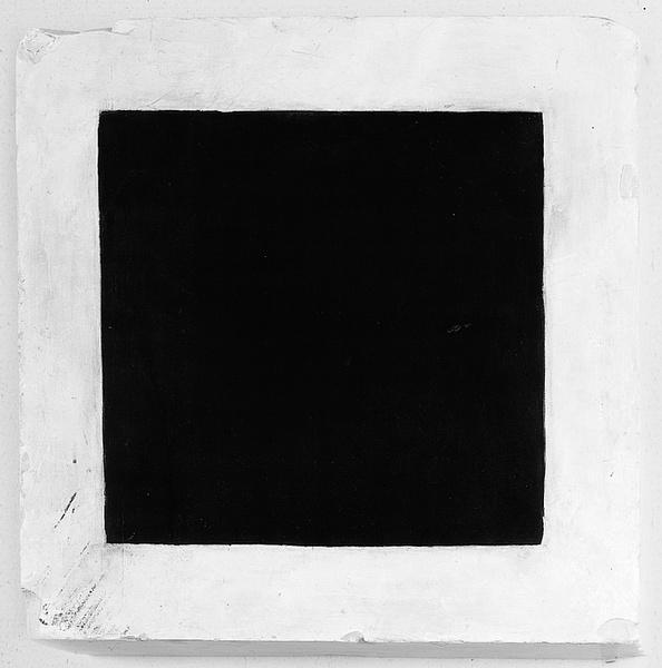 """Figure  """"Carré Noir sur Fond Blanc"""", K. Malevitch, 1915"""