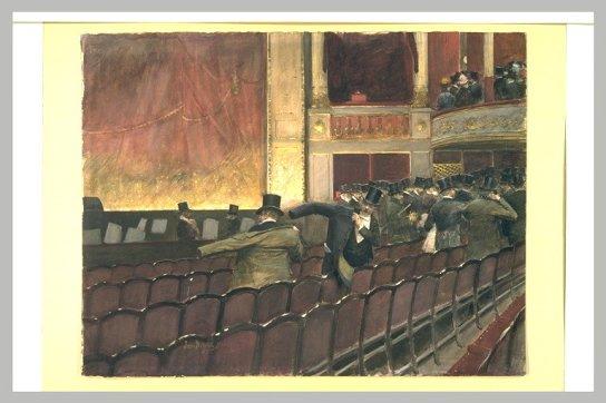 La sortie du théâtre