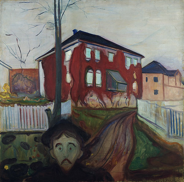 Edvard Munch, La Vigne vierge rouge, 1898-1900