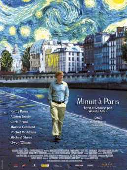 Woody Allen - Minuit à Paris affiche