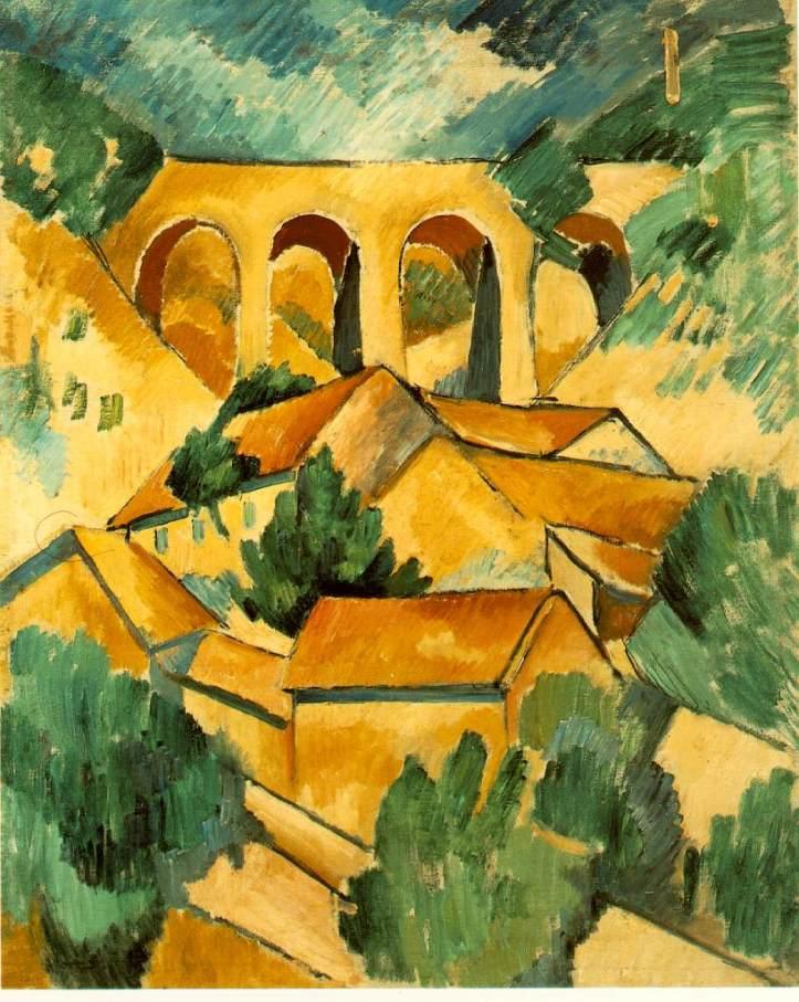 Georges Braque, Le viaduc à l'Estaque, 1908