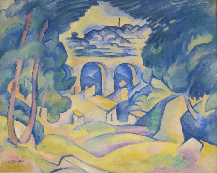 Georges Braque, The ViaductGeorges Braque, Le viaduc de l'Estaque, 1907