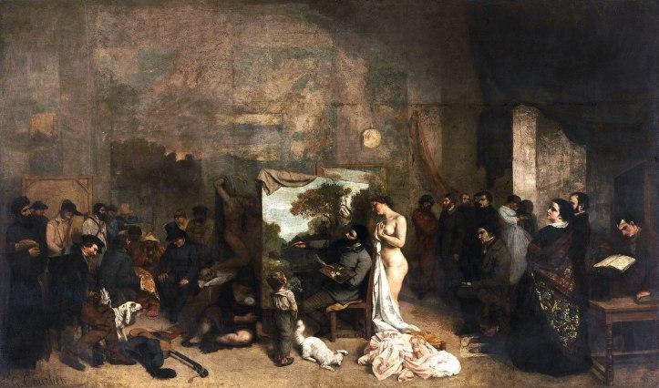Gustave Courbet, L'Atelier du peintre. Allégorie réelle déterminant une phase de sept années de ma vie artistique et morale, 1854-1855