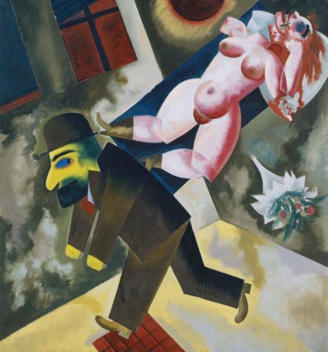 George Grosz, John le tueur de Femmes, 1918, huile sur toile, 86,5 x 81,2 cm.