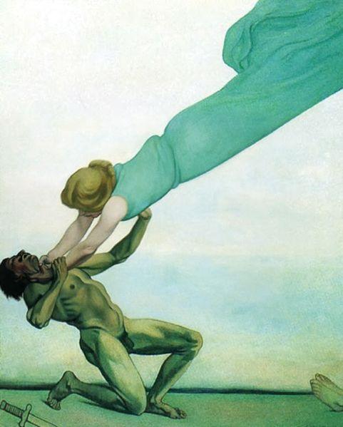 Félix Vallotton, Le crime châtié, 1915, huile sur toile.