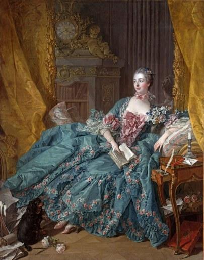 François Boucher - Portrait de la Marquise de Pompadour