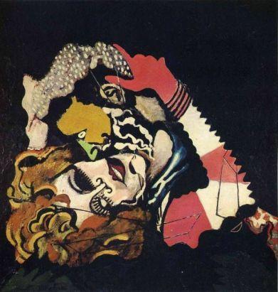Francis Picabia, Les Amoureux (Après la pluie), 1925, Peinture-émail et huile sur toile, 116 x 115 cm. Musée d'Art moderne de la Ville de Paris.