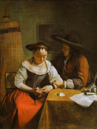 Jacob Ochtervelt - La requête amoureuse