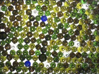 Jean Shin, Glasscape,Installation de bouteilles, 2005