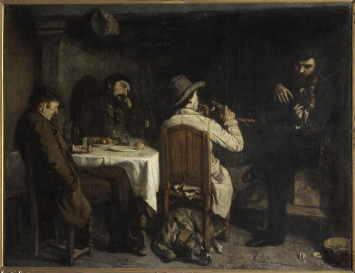 Gustave Courbet, L'Après-dînée à Ornans, 1848-1849