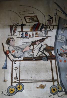 Daniel Derveaux, Le Petit Ouvrage du Bois de Bousse ou le Fort aux Fresques, sur la ligne Maginot à Hestroff (57), automne 1939