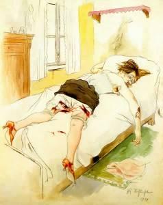 """Rudolf Schlichter, Lustmord (""""Crime sexuel""""), 1924, 58 x 48 cm"""