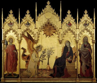 Simone Martini - L'Annonciation et deux Saints