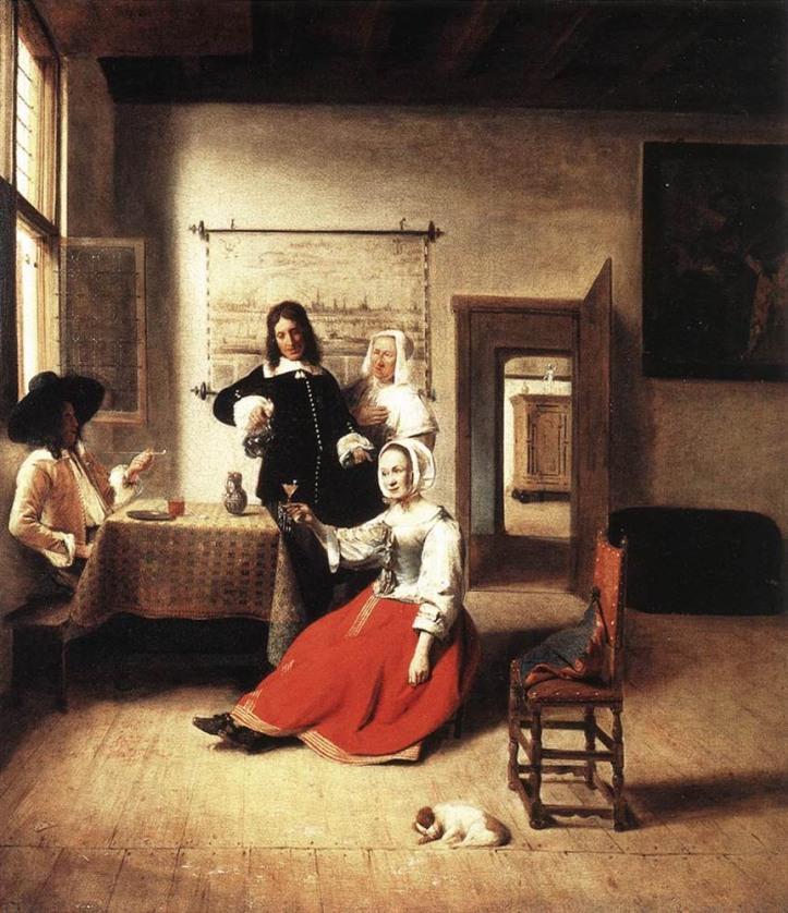 La buveuse, Peter de Hooch, 1658, Musée du Louvre, Paris