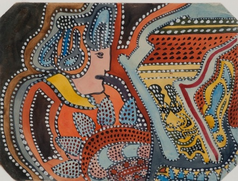 Klett, August [Klotz], « Zuckerfabrik Heilbronn a/N », 1919, Prinzhorn Collection, University Hospital, Heidelberg © Prinzhorn Collection, University Hospital, Heidelberg. Image issue d'exponaute.com
