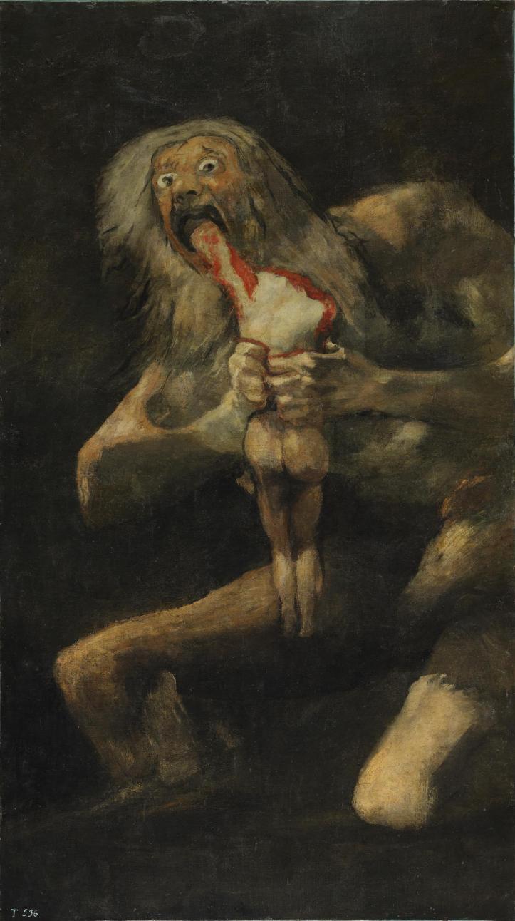 Francisco de Goya, Sans titre dit Saturne dévorant un de ses fils, 1819-1823
