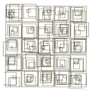 Structures de carrés de Vera Molnar