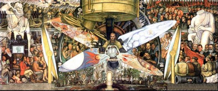 Illustration 1 - L'homme contrôleur de l'univers de Diego Rivera - 1934