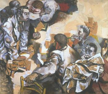 Renato Guttuso, La discussione, 1959-1960