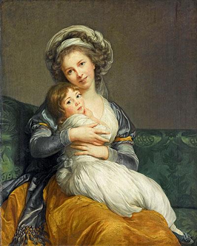Madame VigÈe-Le Brun et sa fille, Jeanne Marie-Louise (1780-1819)