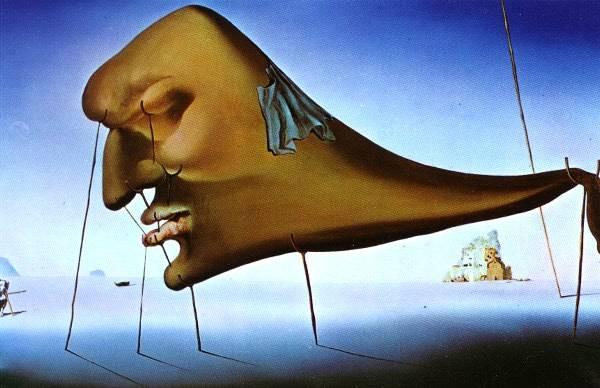 Salvador Dalí, Le Sommeil, huile sur toile, 1937.