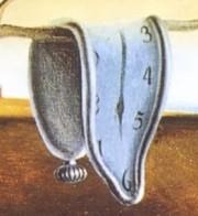 Salvador Dali, La persistance de la mémoire, 1931. Huile sur toile, 24,1 x 33 cm. Détail : les montres