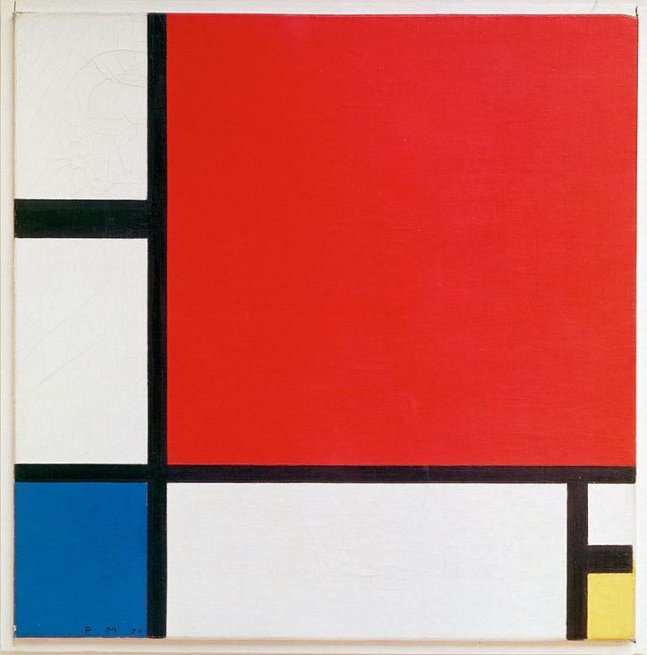 Piet Mondrian, 1930 - Composition II in Red, Blue and Yellow
