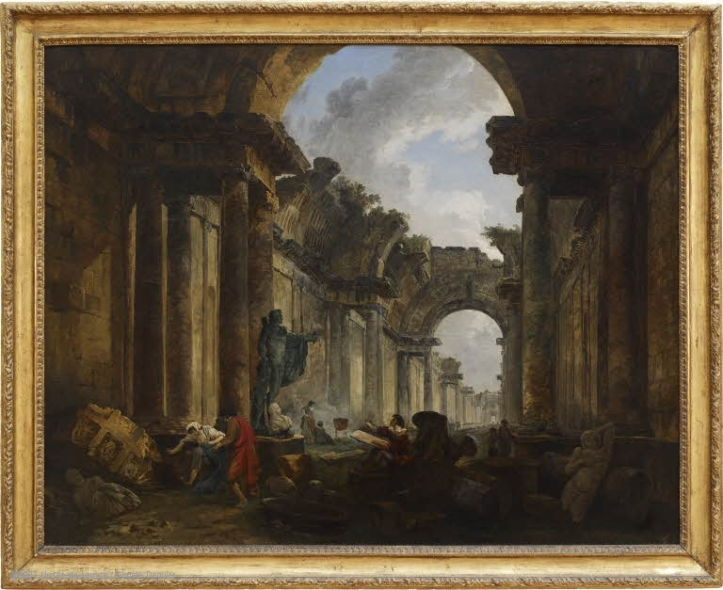 H.Robert - Vue imaginaire du Louvre - 1796